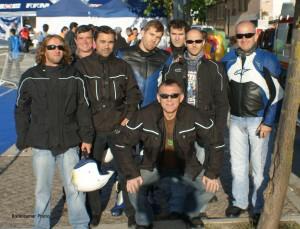 Motoristas voluntarios participantes en el Campeonato de España del 2009.Rodeiramar Photo