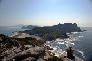 Islas Cies.Vista de la Playa de Rodas desde el Alto del Príncipe