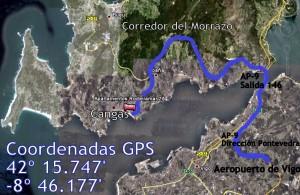 Como llegar desde el Aeropuerto de Vigo, a Cangas de Morrazo