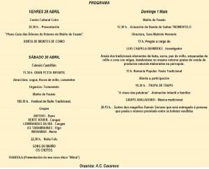 Romeria de Fausto. Programa de actividades Romeria de Fausto