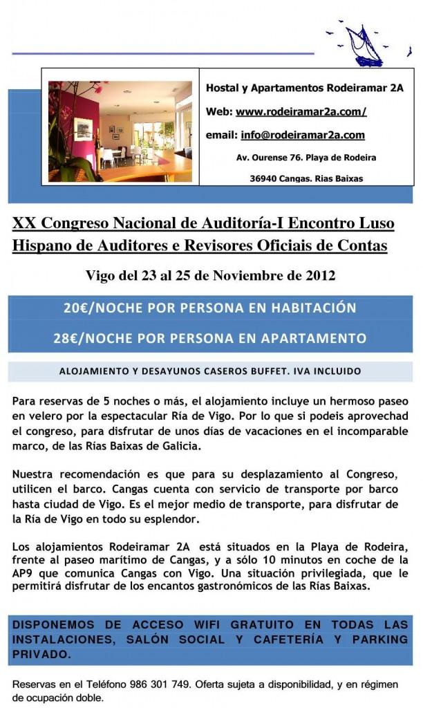 XX CONGRESO NACIONAL DE AUDITORÍA DE VIGO 2011-I ENCONTRO LUSO HISPANO DE AUDITORES E REVISORES OFICIAIS DE CONTAS
