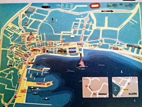 Feria tapas Cangas 2012. Mapa