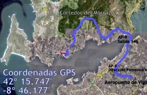 Mapa alojamiento exposición canina de Vigo 2012